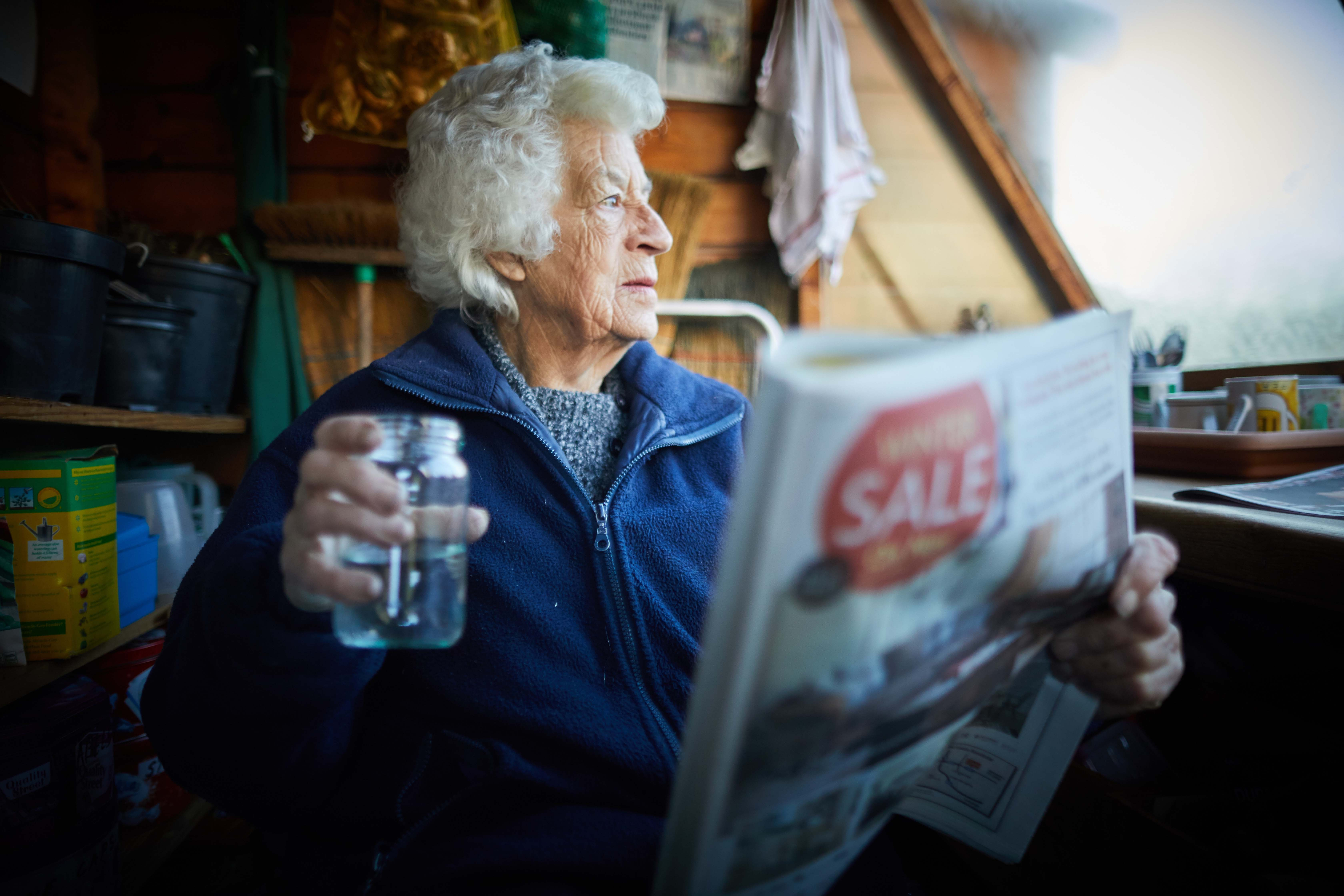 Dena Murphy aged 88 lives a healthy lifestyle pictured at NEPHRA allotment in her Mew Moston community