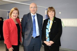 Jon Rouse, Gillian Easson and Ann Barnes opening the new centre