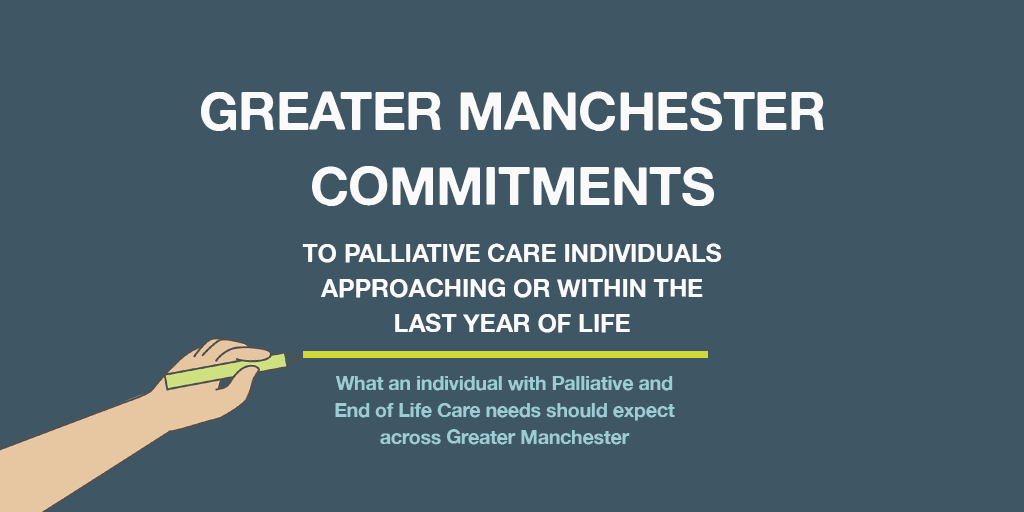 Greater Manchester Commitments to palliative care individuals approaching or within the last year of life.