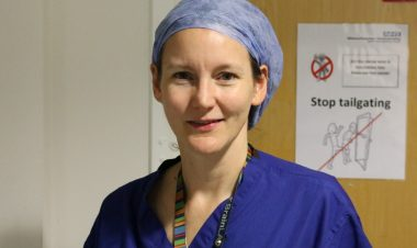 Consultant anaesthetist Dr Rebecca Sutton, at the Royal Manchester Children's Hospital