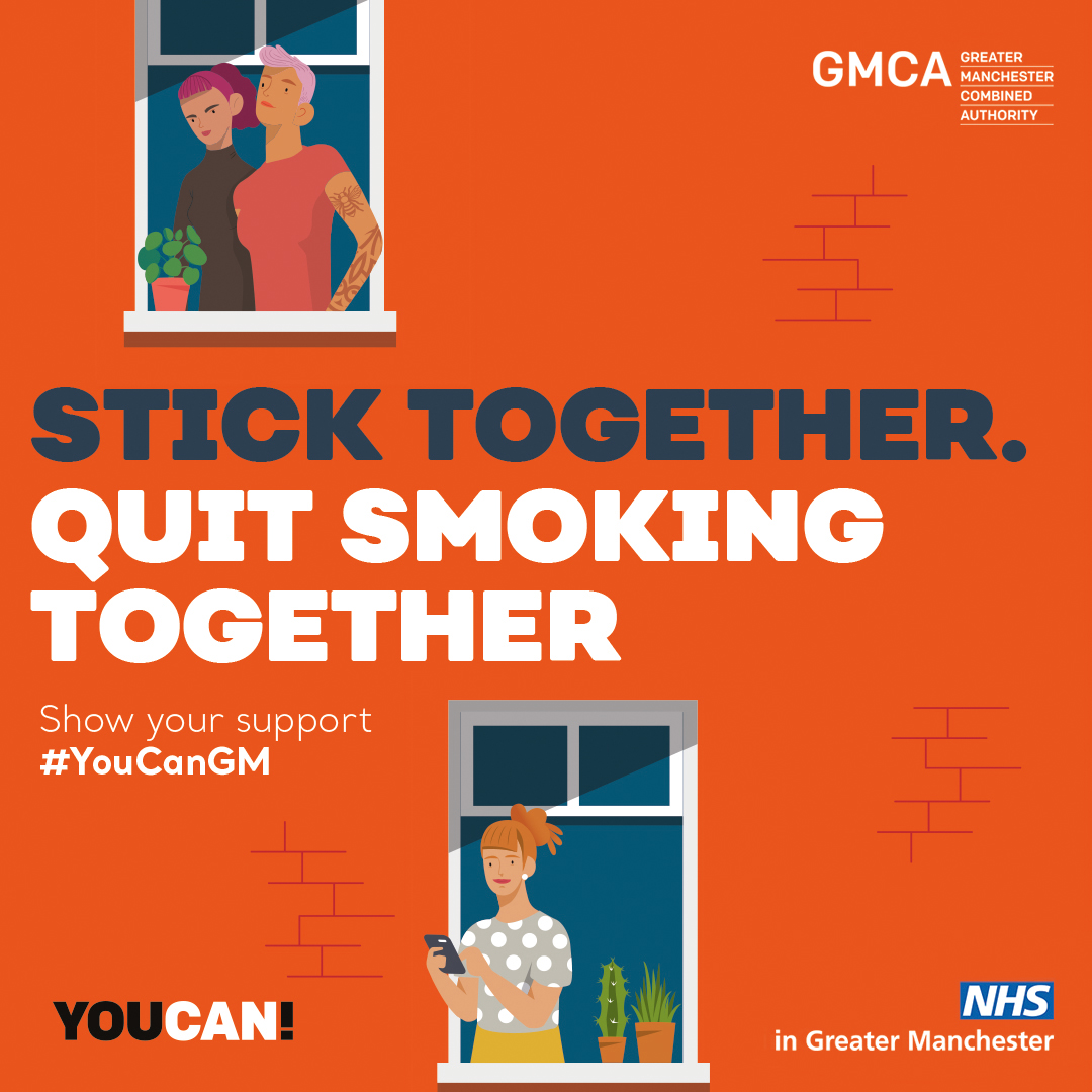 Stick Together. Quit Smoking Together. Show your support #YouCanGM
