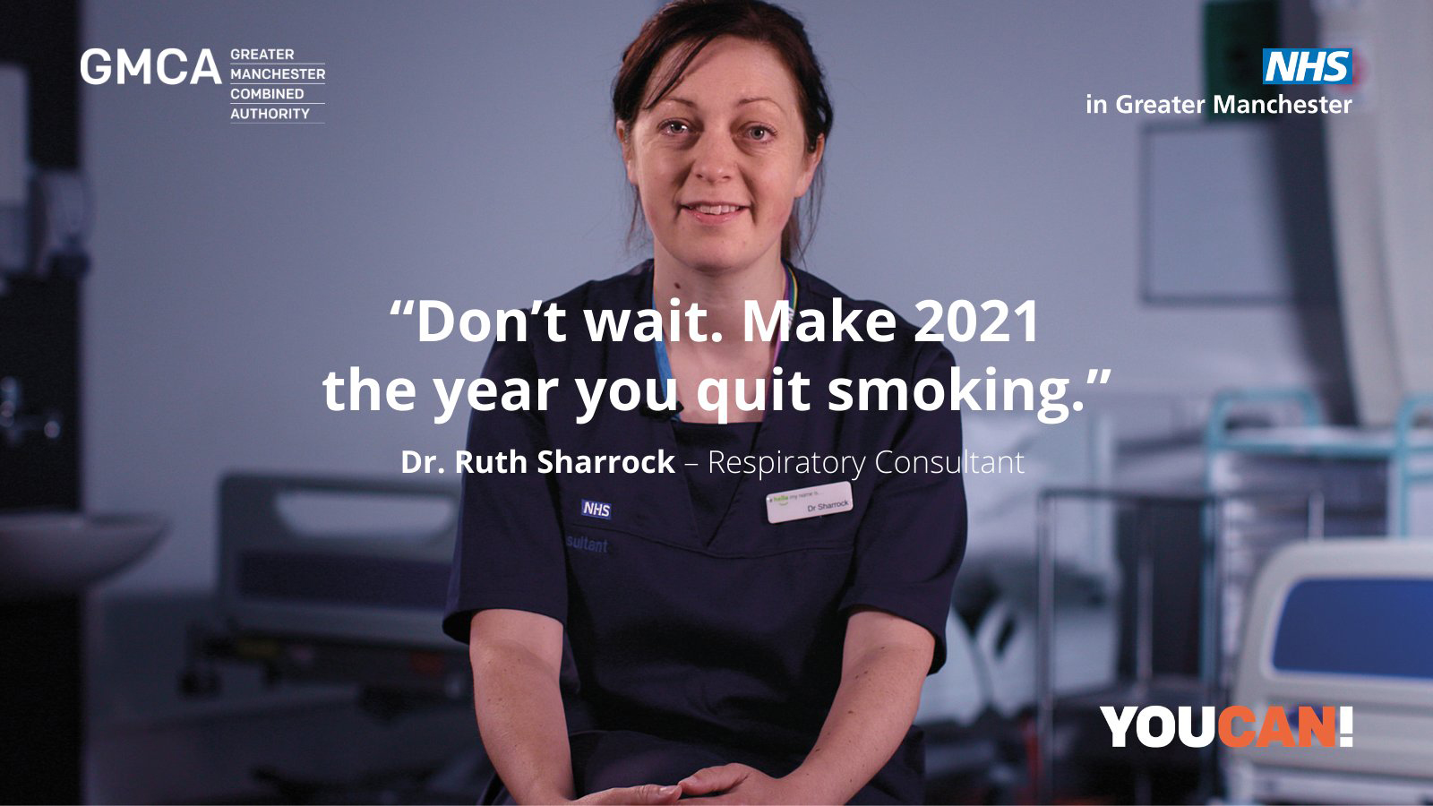 """""""Don't wait. Make 2021 the year you quit smoking"""". Dr Ruth Sharrock, respiratory consultant"""