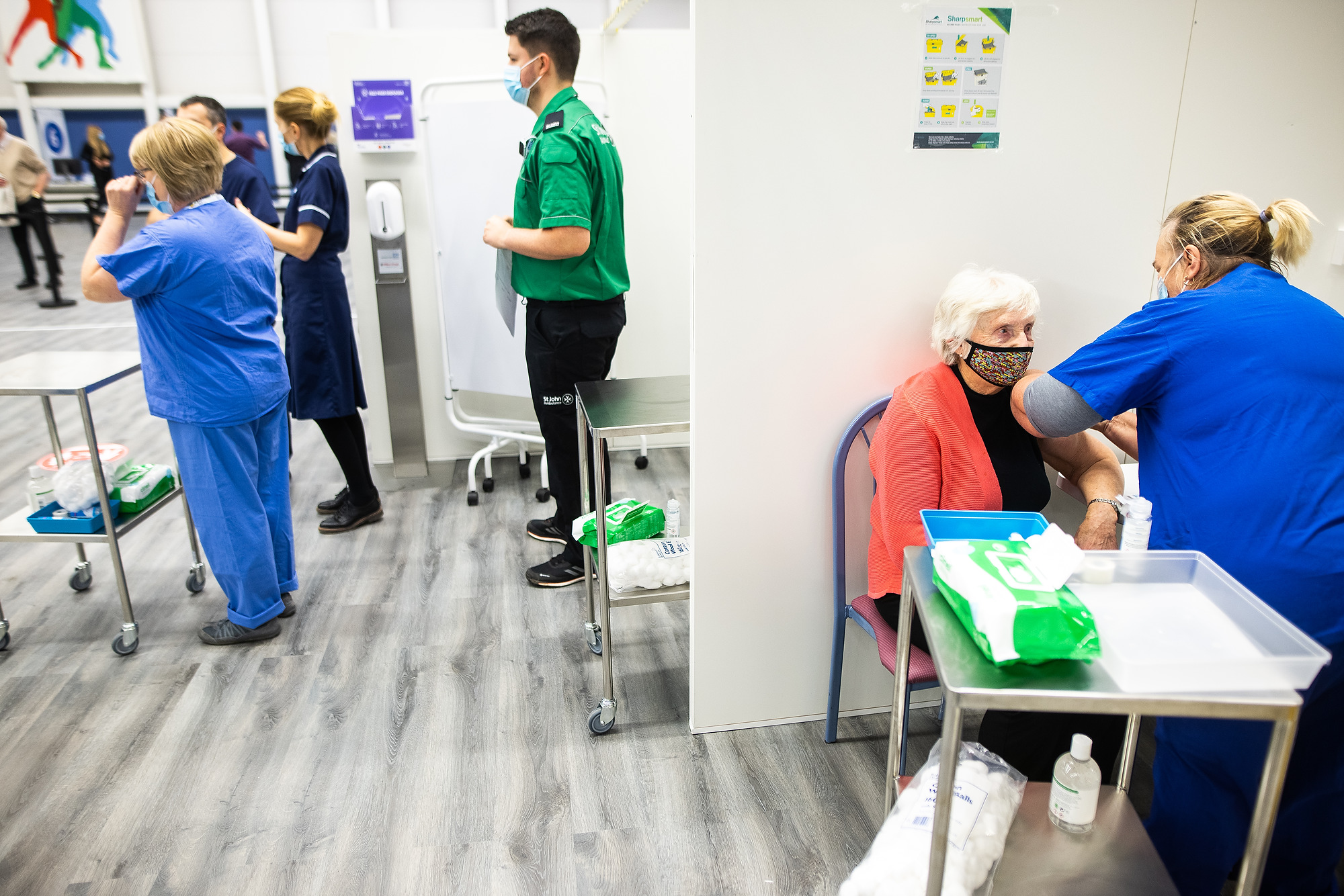 Vaccination taking place at the Etihad Campus site
