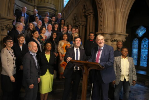 Lord Peter Smith and Mayor, Andy Burnham signing Memorandum of Understanding with the Voluntary, Community and Social Enterprise Sector